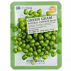 FOODAHOLIC Green Gram Natural Essence 3D Mask