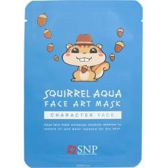 SNP Squirrel Aqua Face Art Mask