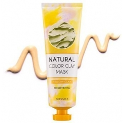MISSHA Natural Color Clay Mask YELLOW Clay Brightening