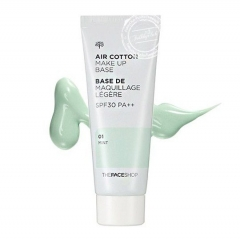 THE FACE SHOP Air Cotton Make Up Base SPF30 PA+++ ((Green)