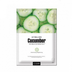 COS W My Real Skin Cucumber Facial Mask