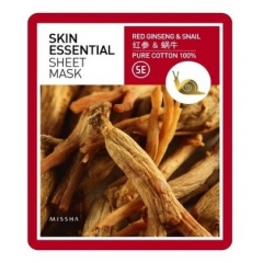 MISSHA Skin Essential Sheet Mask Red Ginseng & Snail